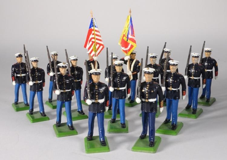 16 Britains US Marines Lead Soldier Toys