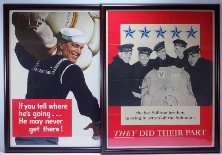 2 WWII United States Navy Recruitment Posters