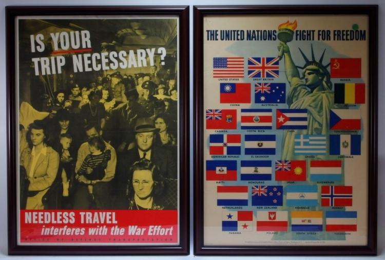 2 WWII War Propaganda Posters