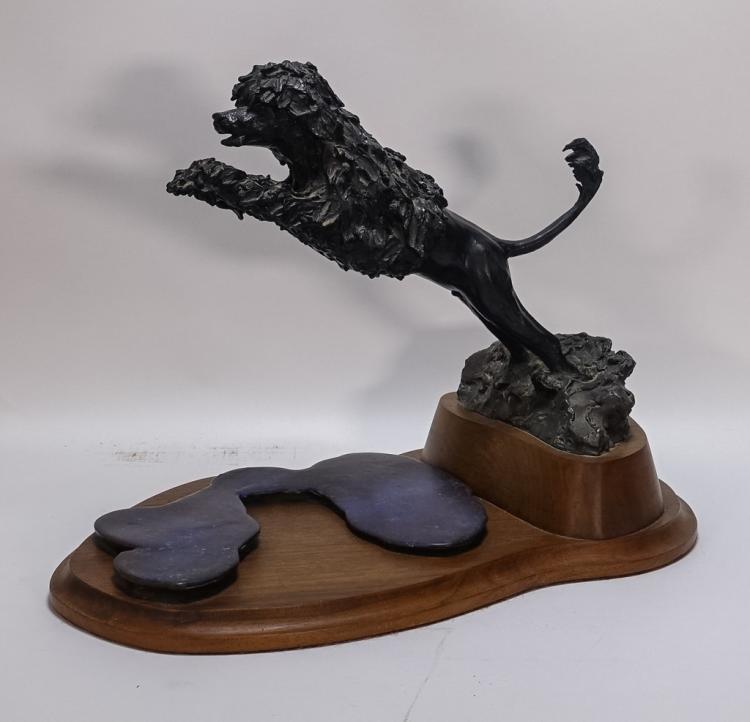Contemporary Garry Newton Bronze Poodle Sculpture