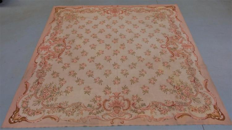 French Aubusson Floral Design Textile
