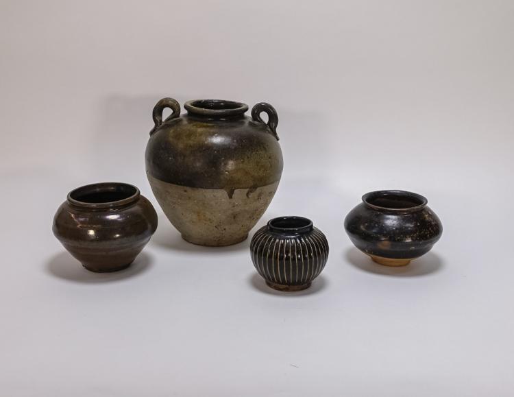 4 Chinese Cizhou Style Pottery Vessels
