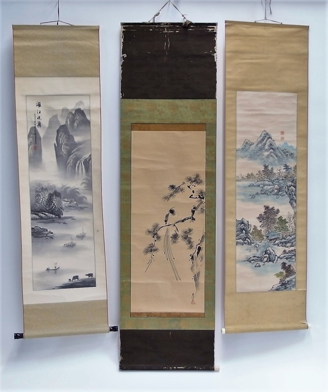 3 Chinese and Asian Landscape Scrolls