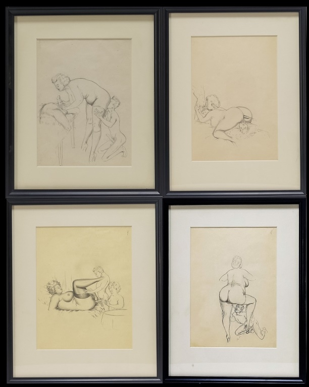 4 Jim Erotic Pencil Drawings Sexual Men Woman