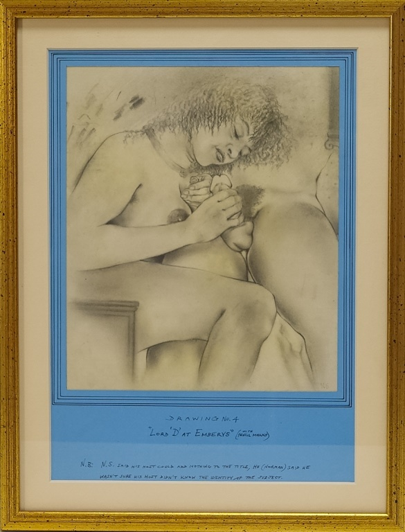 David Wilde Erotic Lord D' at Emberys Drawing