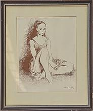 Moses Soyer Ballet Dancer Lithograph