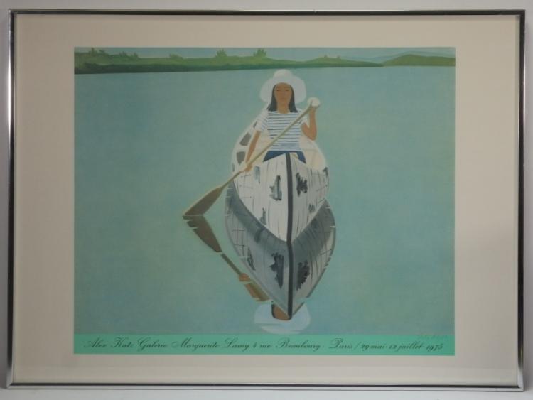 Alex katz gallery print of woman in canoe for Katz fine art