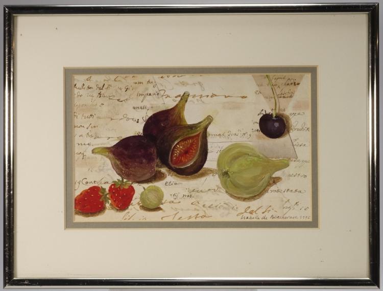 Isabelle De Borchgrave Still Life Onion Watercolor