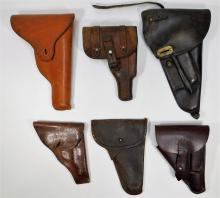 WWI -WWII Period Leather Pistol Holster