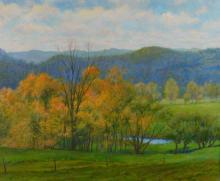 Peter Tysver New England Autumn Landscape Painting