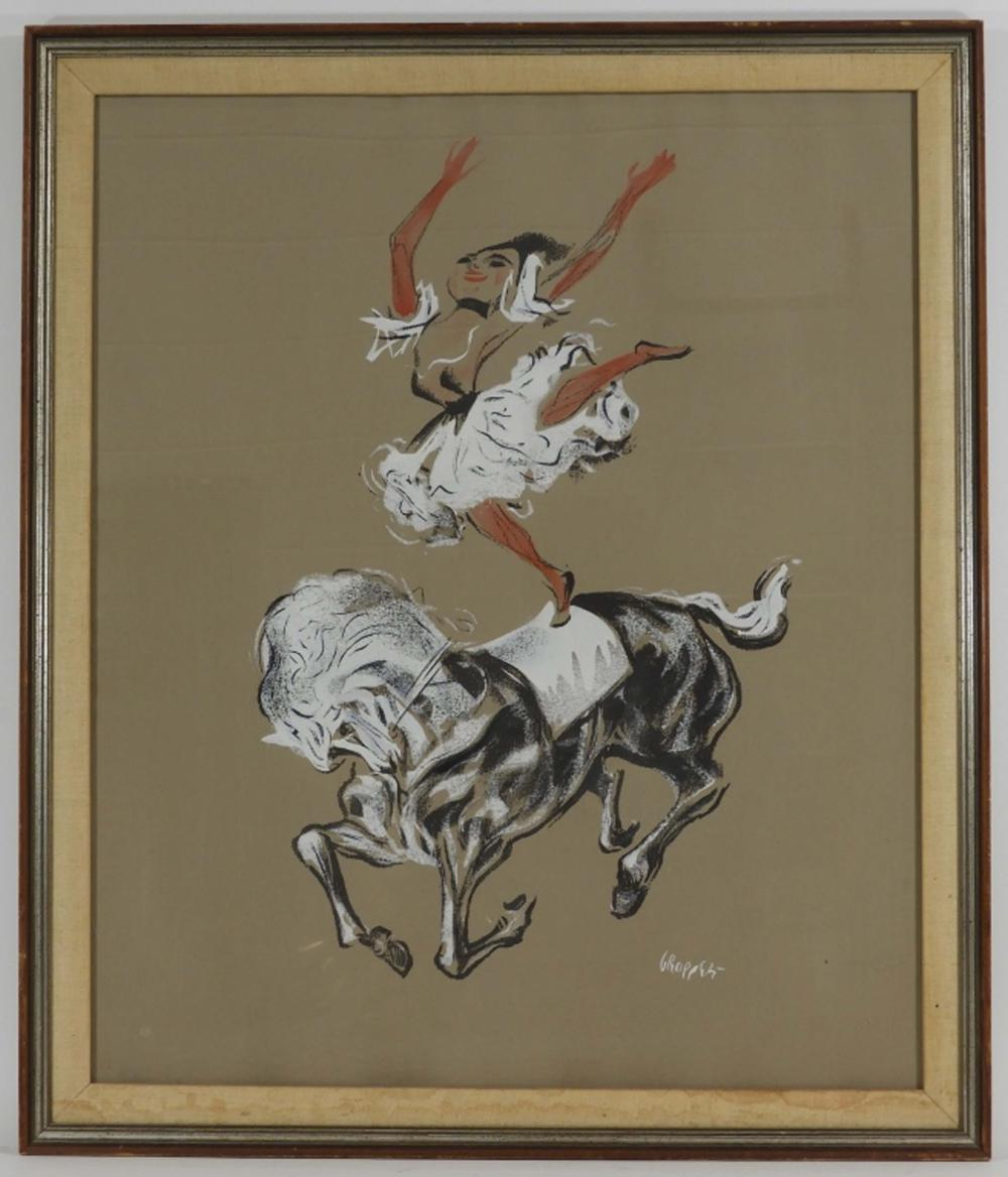William Gropper Circus Performer on Horse Painting