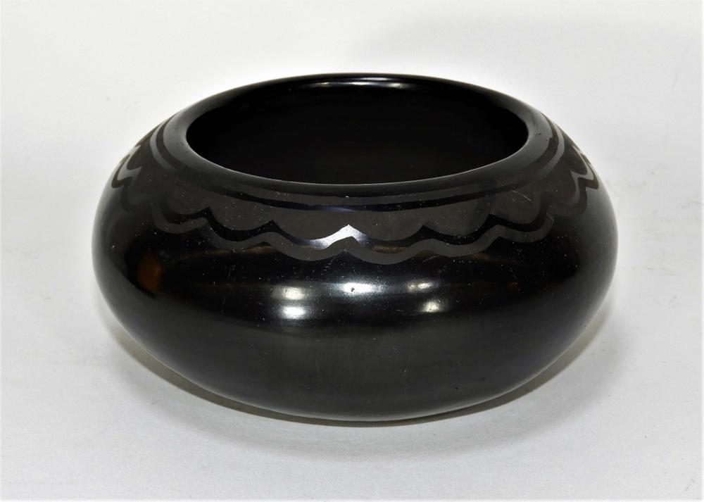 Lupita Martinez San Ildefonso Pottery Bowl