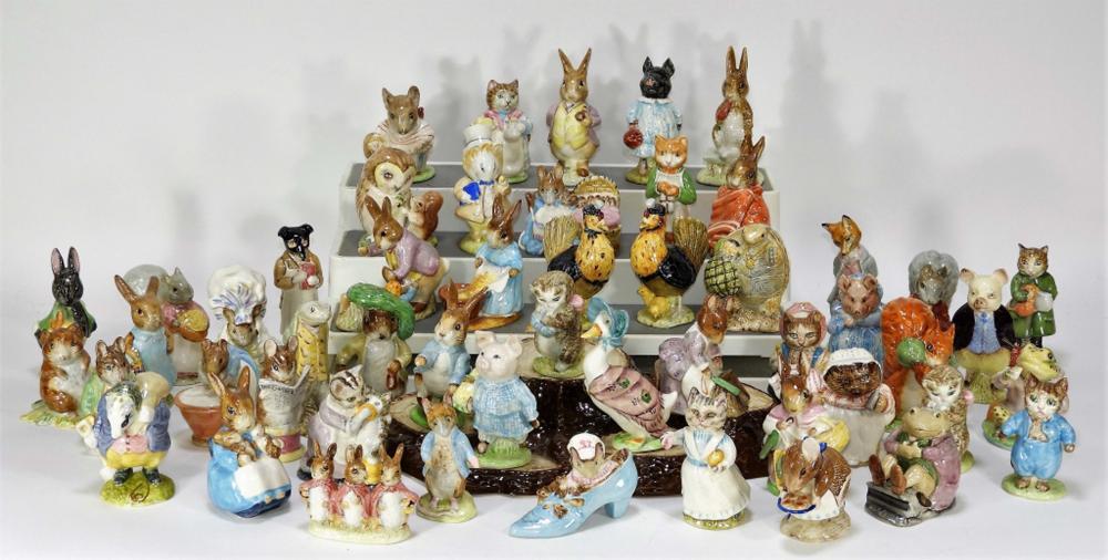 53PC Beatrix Potter's Beswick Pottery Figure Group