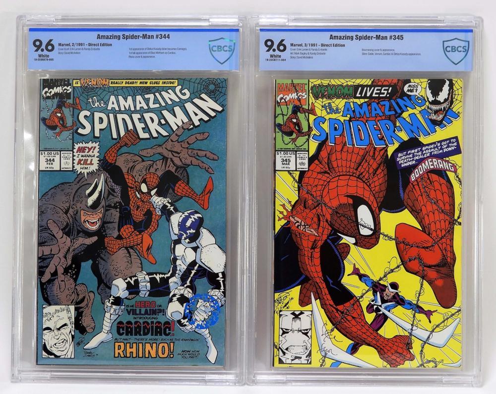 Marvel Amazing Spider-Man #344 & #345 CBCS 9.6