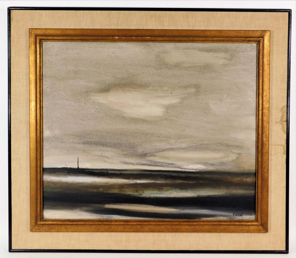 Jean Claude Farhi O/C Abstract Landscape Painting