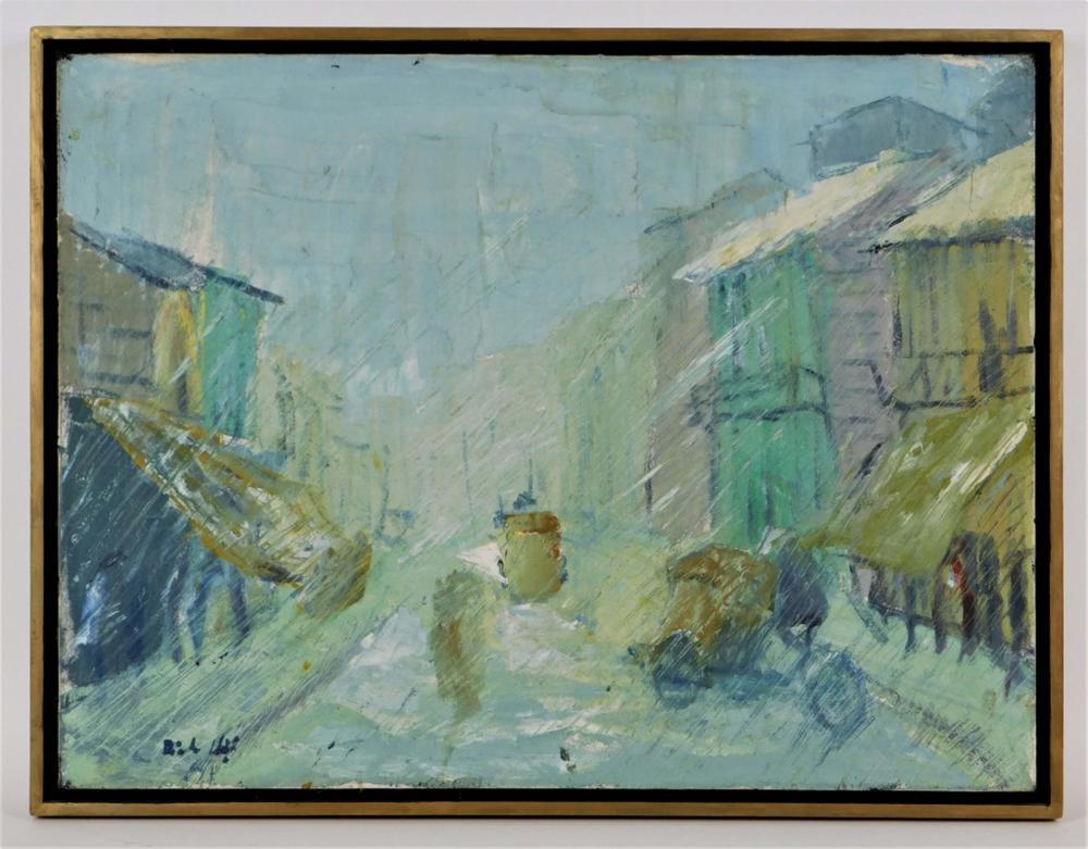 FINE 1967 Impressionist Saigon Vietnam Painting