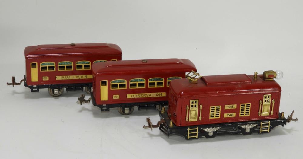 3PC Lionel Pre-War Red Train Set No.292 Engine 248