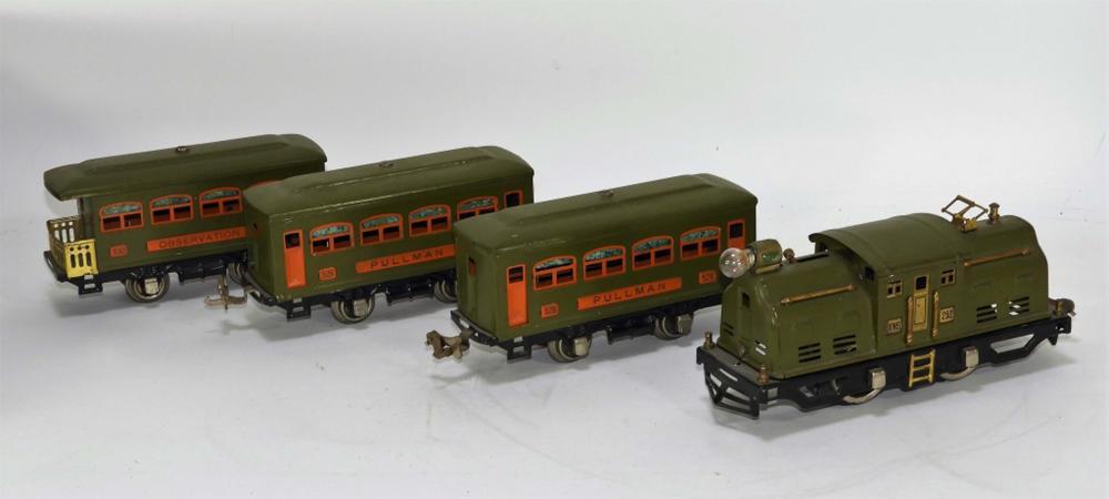 4PC Lionel Pre-War Olive Green No.294 Train Set