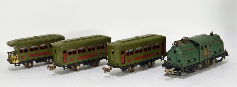 4 Lionel Pre-War Green No.294 Train Set Engine 252