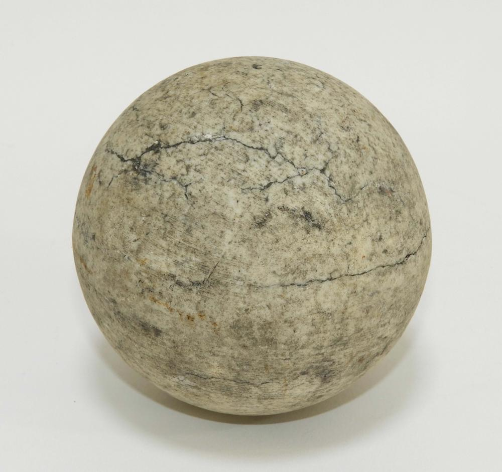 """Antique 2 3/4"""" Solid Round Shot Stone Cannon Ball"""