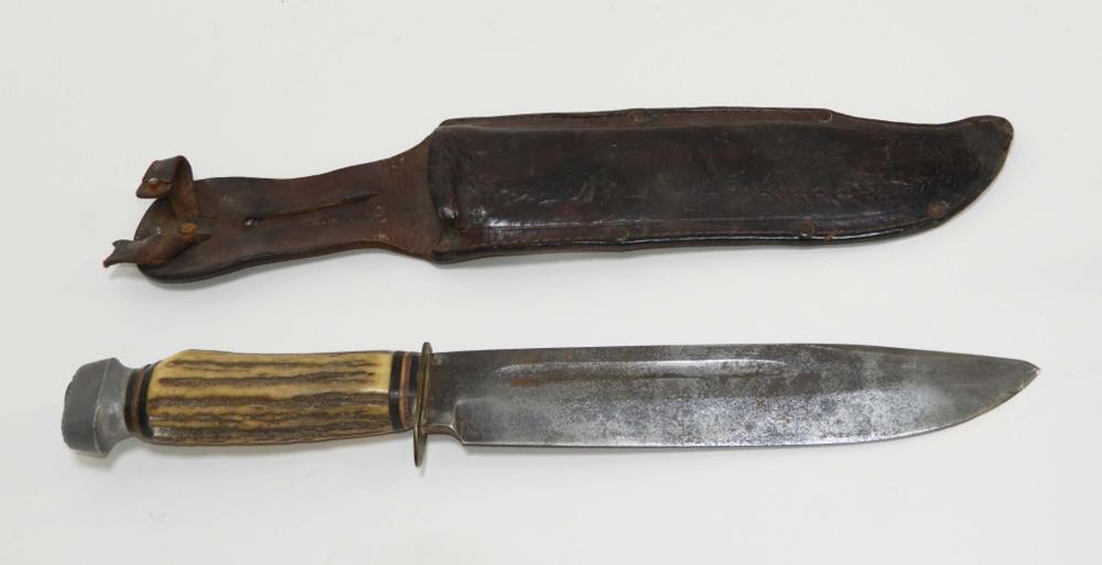 Edge Brand Solingen Germany Antler Hunting Knife