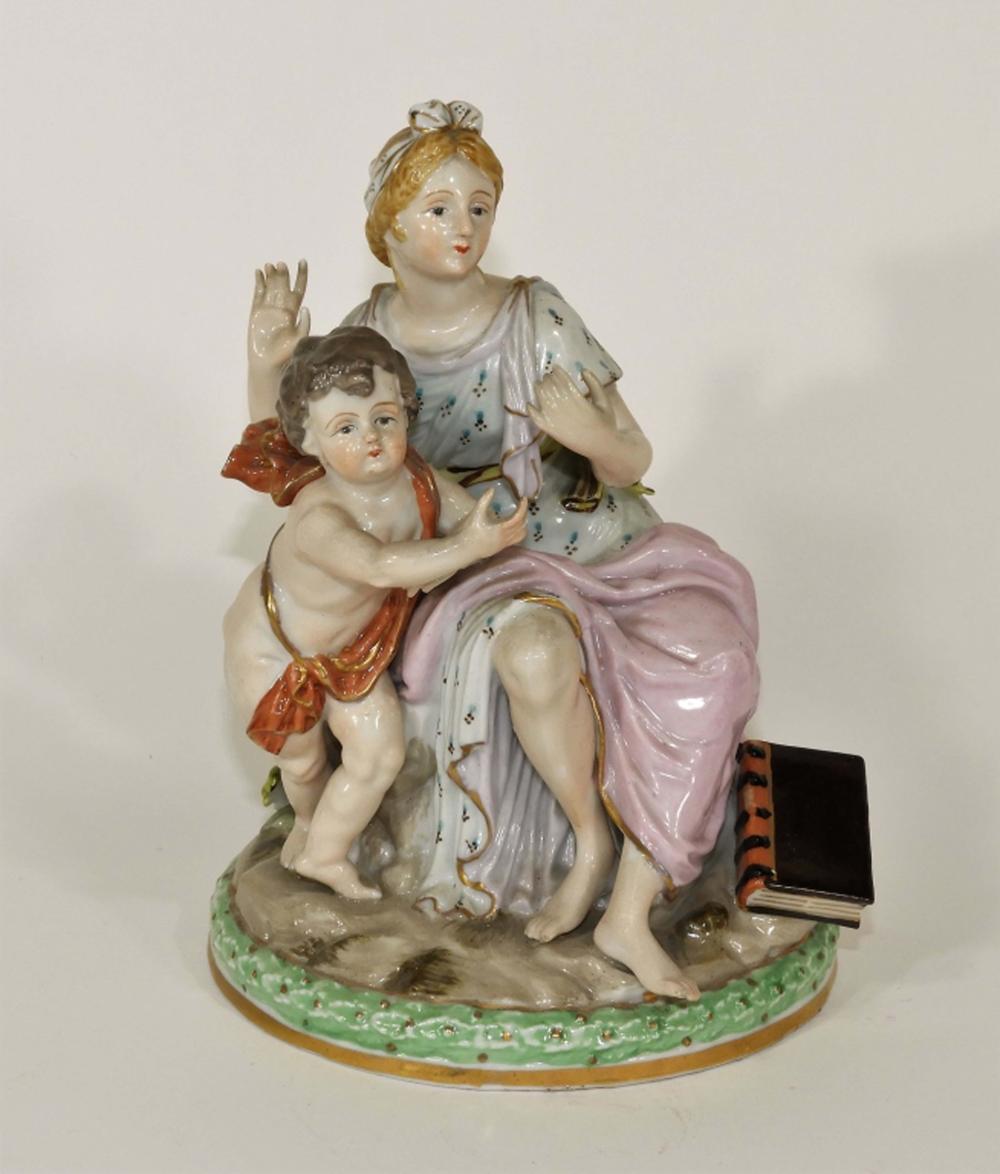 Vintage Japanese Porcelain Classical Figure Group