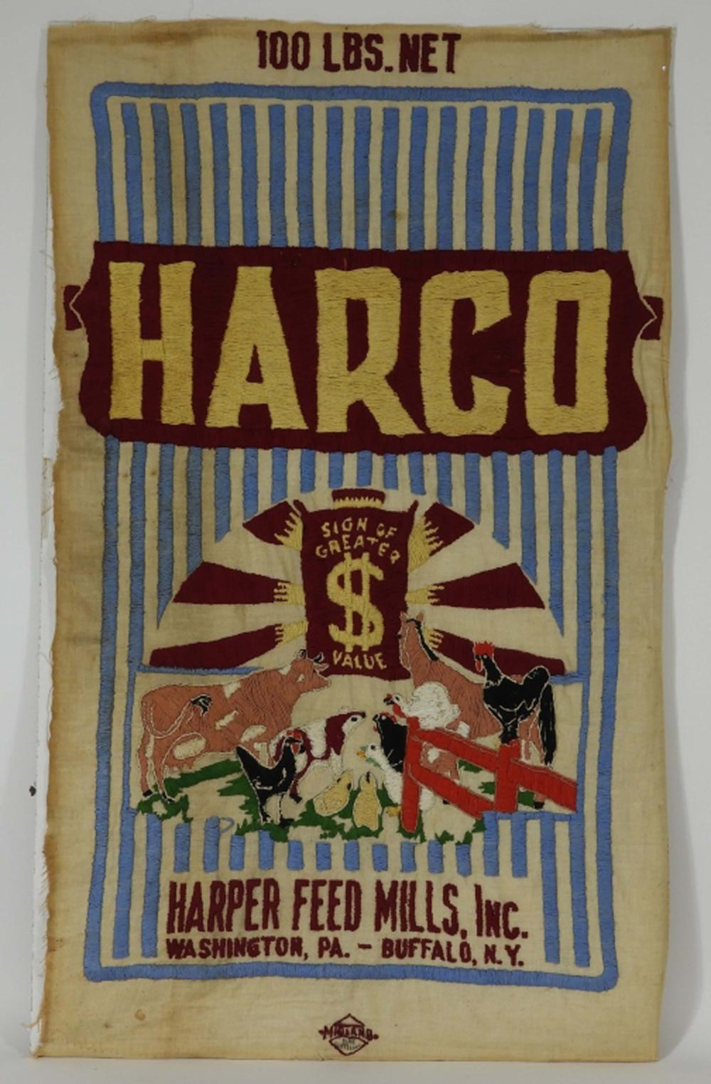 Harco Harper Feed Mills Inc. Advertising Textile