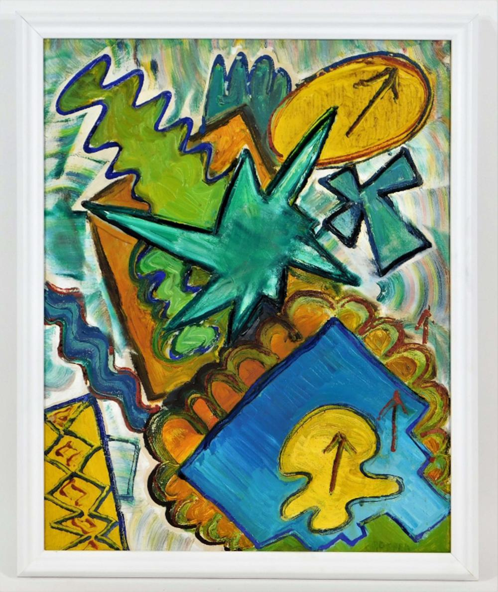William Gropper Modernist Semi-Abstract Painting