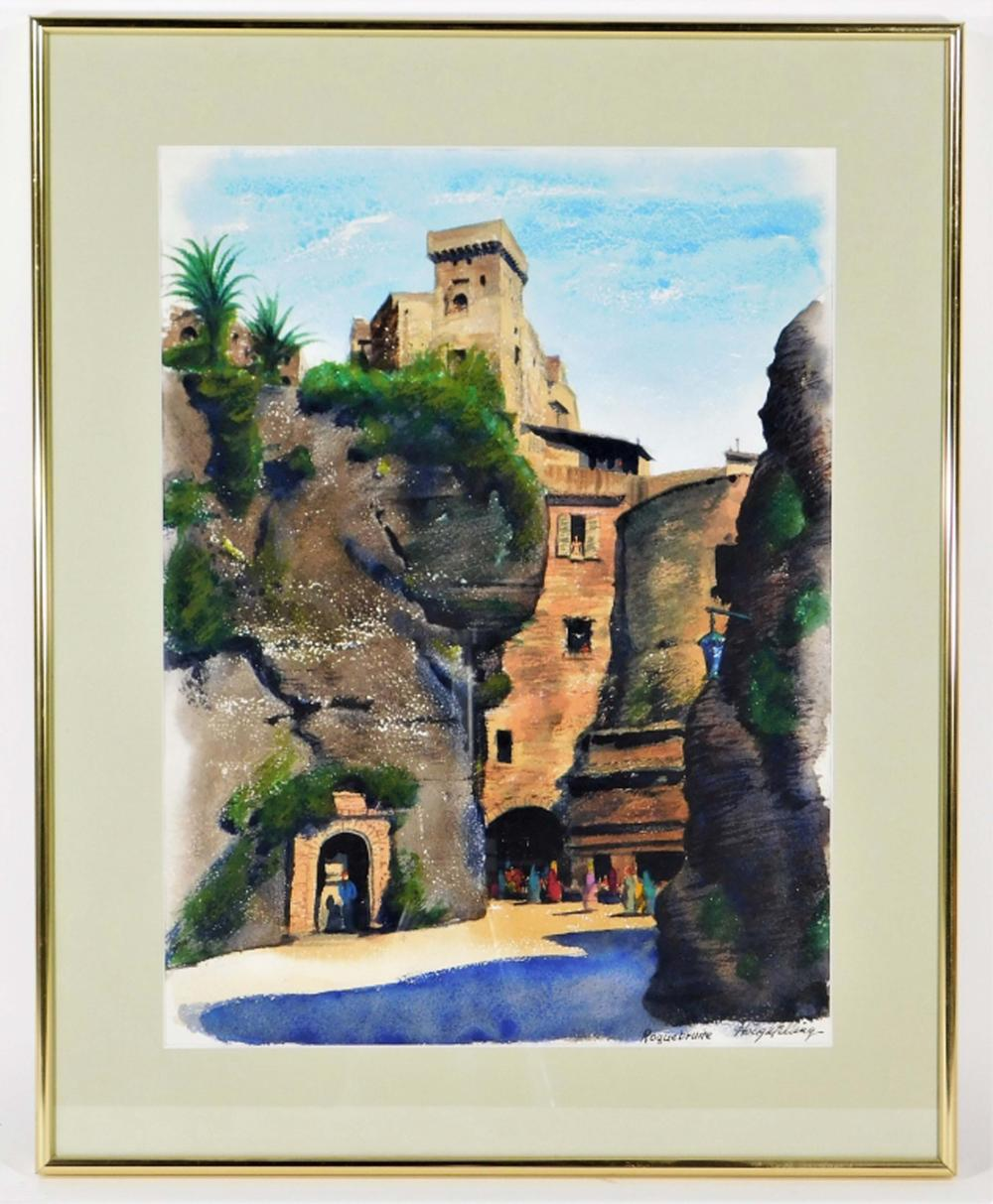 Ayres Houghtelling Roquebrune France WC Painting