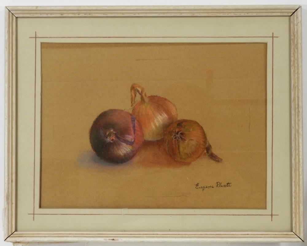 Eugene Plante WC Still Life Painting of Onions
