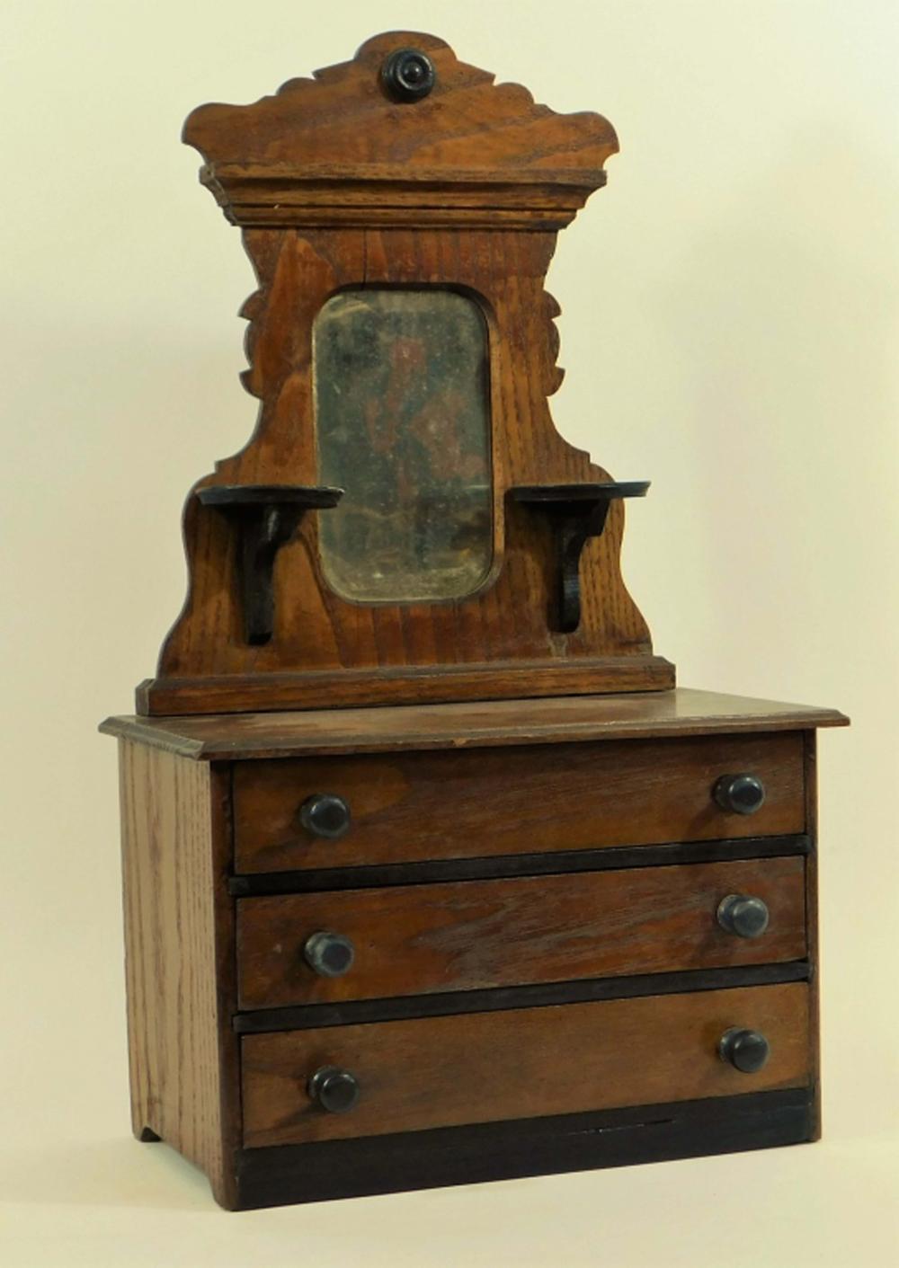 Antique American Victorian Doll Furniture Dresser