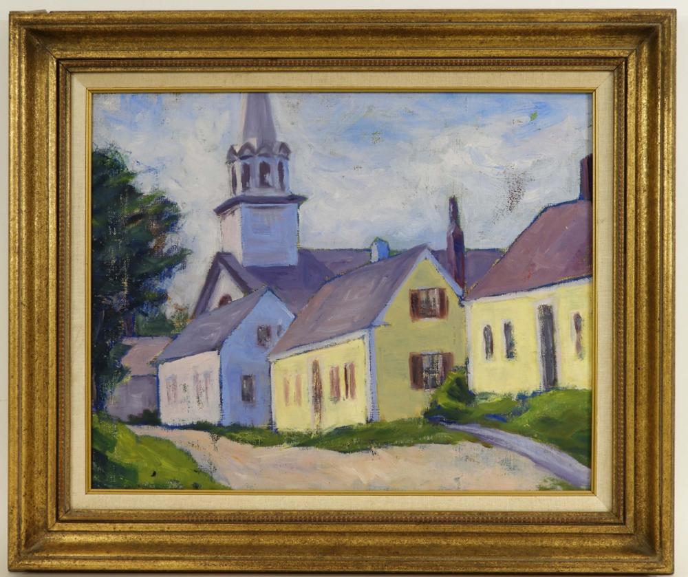 Richard Everett Bishop Rockport Mass O/C Painting