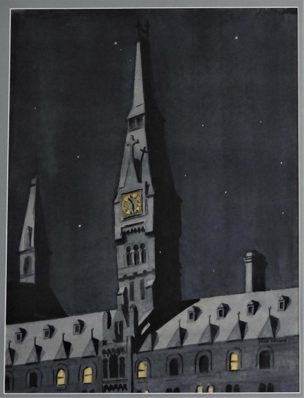 John Bryans Nocturnal Stardust Cathedral Painting