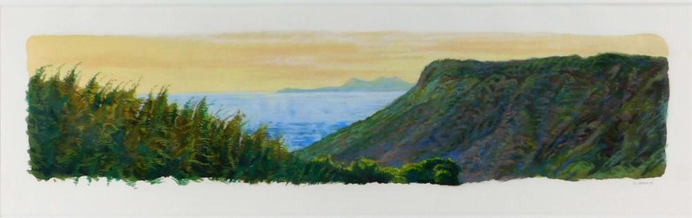 Conley Harris Hilltop at Yashima Pastel Painting