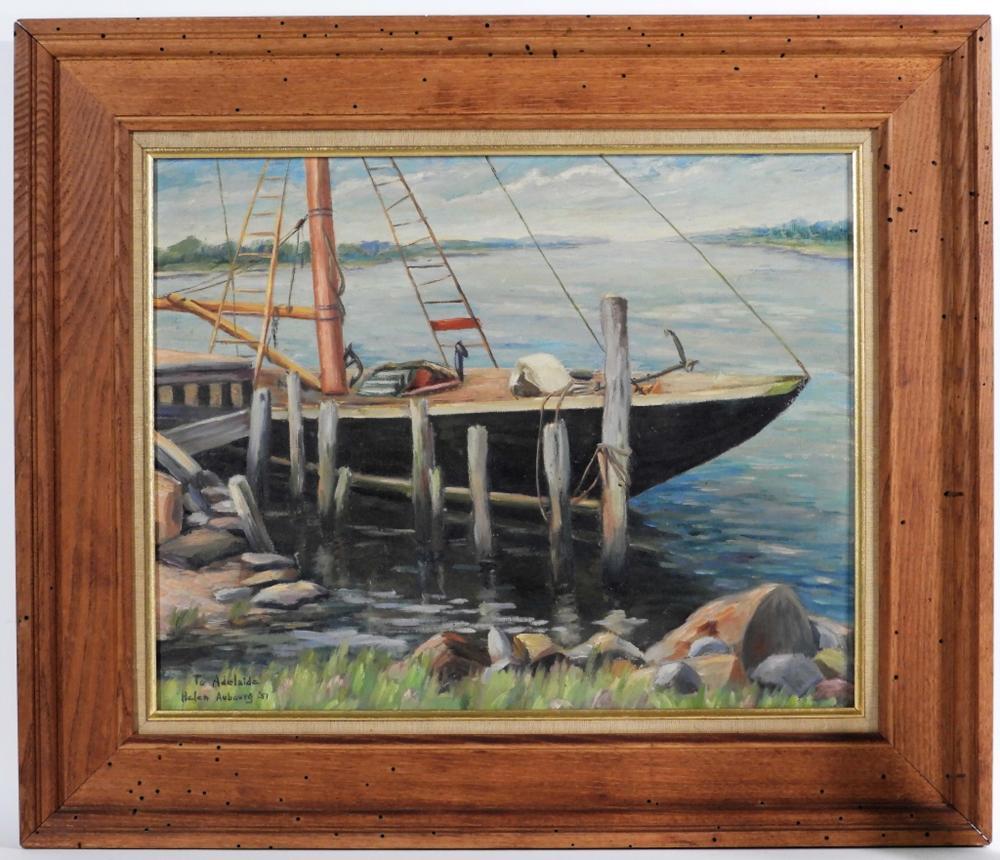 Helen Aubourg Cape Ann Gloucester Harbor Painting