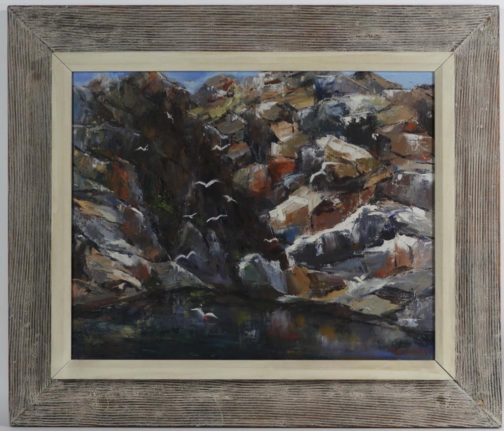 Helen Aubourg Cape Ann Coastal Rockport Painting