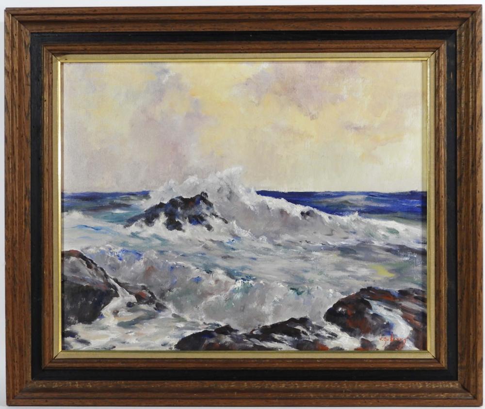 Helen Aubourg Cape Ann Coastal Seascape Painting