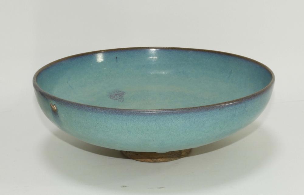 Chinese Qing Dynasty Jun Yao Earthenware Bowl