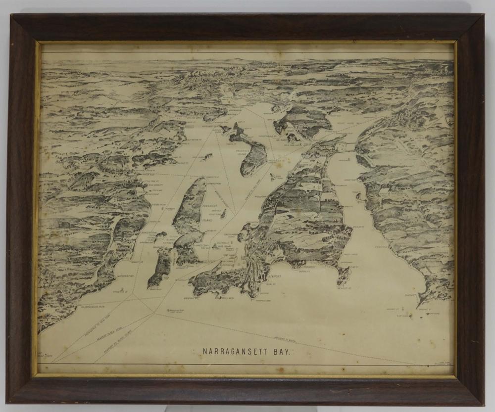John Cobb Narragansett Bay Rhode Island Map