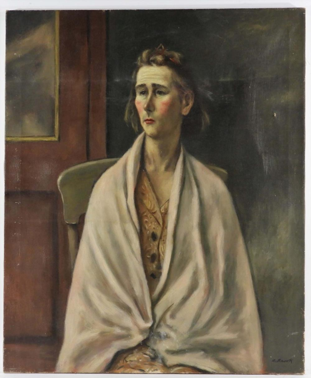 Alexander Brook O/C Portrait Painting of a Lady