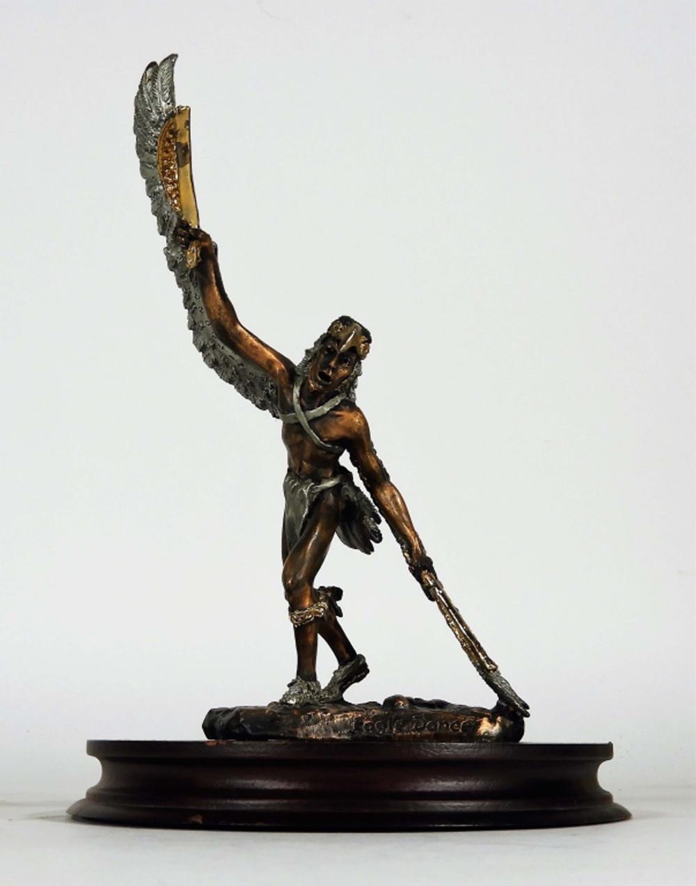 Christopher Pardell Eagle Dancer Bronze Sculpture