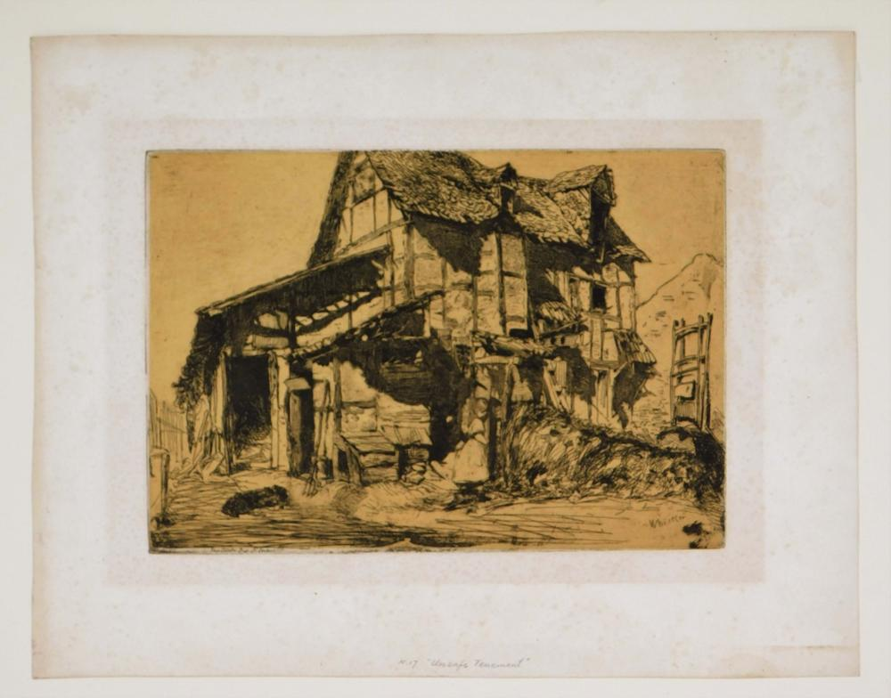 James A. McNeil Whistler Tenement Old Farm Etching