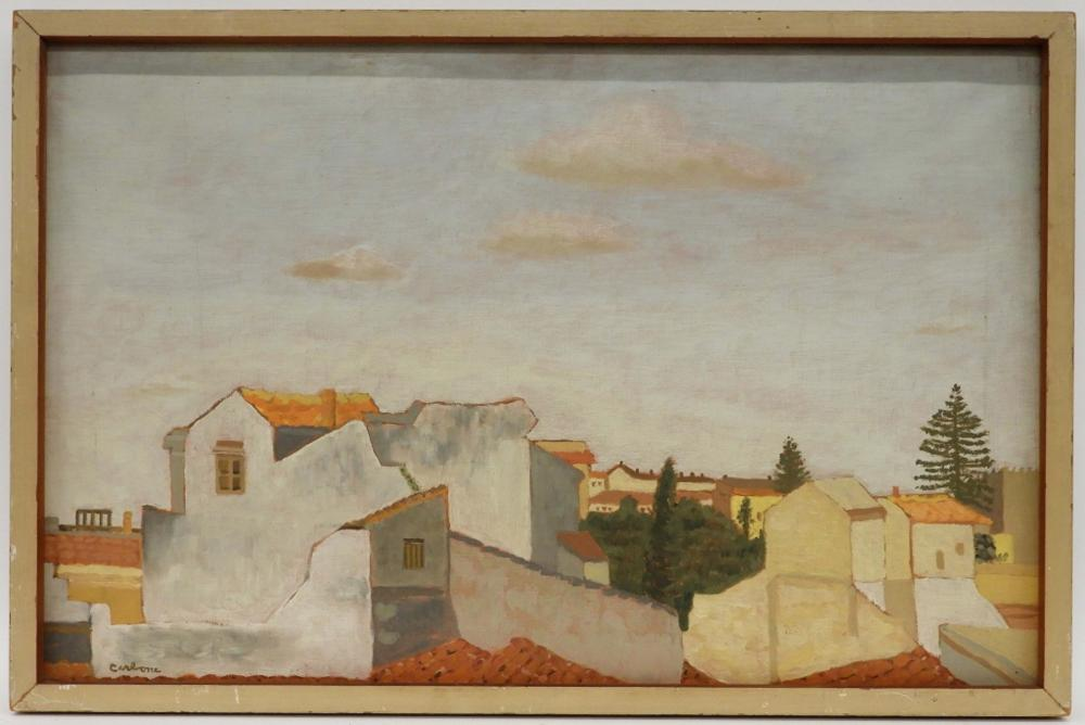 Francesco Carbone Modern Palermo Rooftop Painting