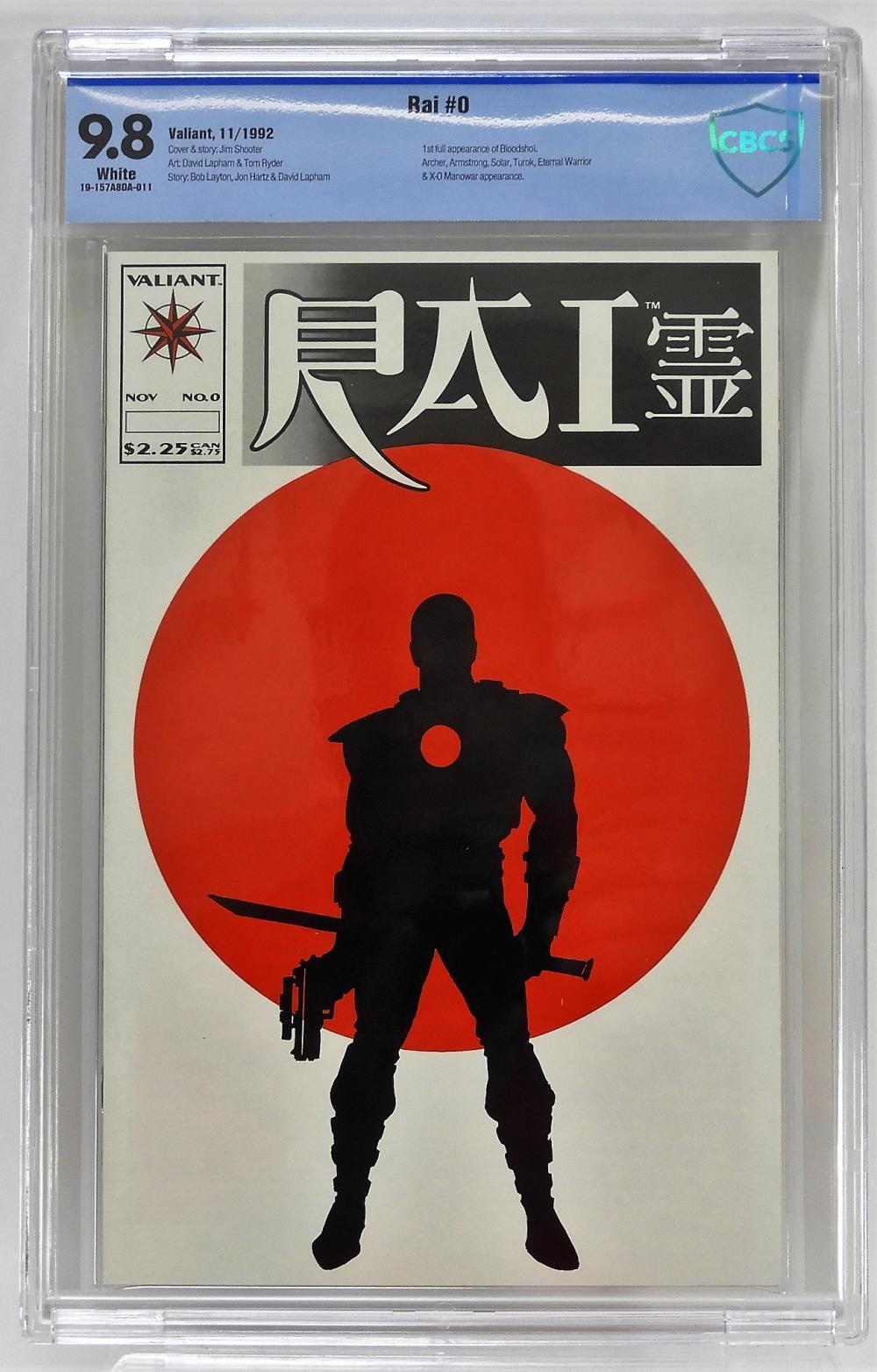Valiant Comics RAI #0 CBCS 9.8