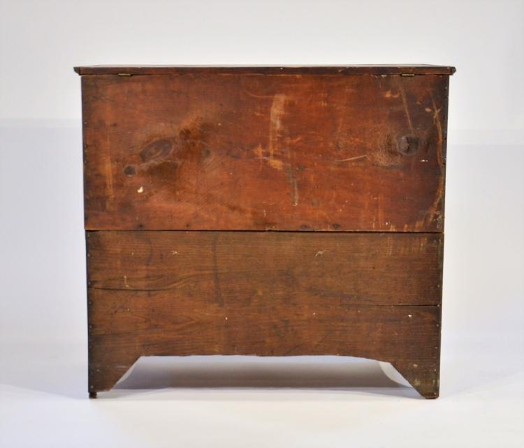 18c New England Country Two Drawer Blanket Chest