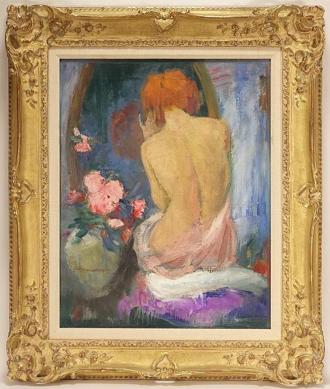 Charles Hawthorne Impressionist Nude Painting
