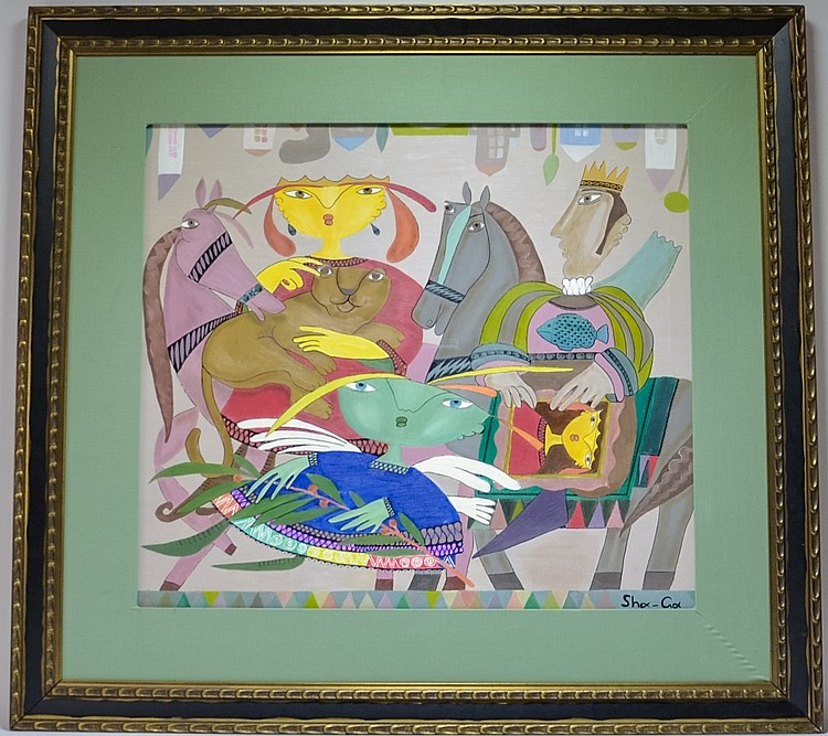 Gagik Shahinyan Royal Family Abstract Painting