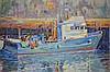 Rapheal Maniago Impressionist Trawler O/C Painting