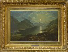 John Applebee Moonlit Mountain Landscape Painting