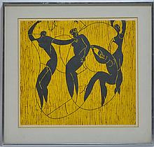 Signed Jiri Holy 4/30 Surrealist Dancer Lithograph